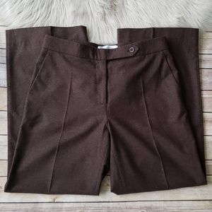 MaxMara Brown Wool Blend Wide Leg Trouser Pant